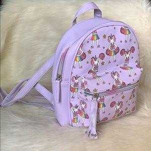 OMG Accessories Unicorn Cheer Mini Backpack NWT